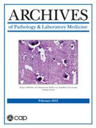 Cover Archives of Pathology and Laboratory Medicine