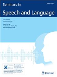 Cover Seminars in Speech and Language