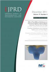 Cover European Journal of Prosthodontics and Restorative Dentistry