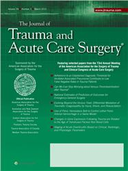 Cover The Journal of Trauma and Acute Care Surgery