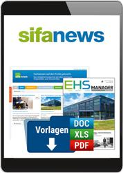 Cover sifa-news (Online-Datenbank)