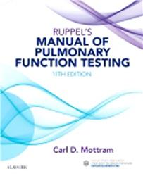 Cover Ruppel's Manual of Pulmonary Function Testing