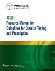 Cover ACSM's Resource Manual for Guidelines for Exercise Testing and Prescription