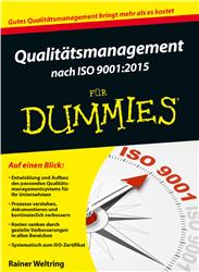 Cover Qualitätsmanagement nach ISO 9001:2015 für Dummies