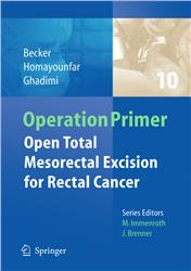 Cover Open total mesorectal (TME) for cancer