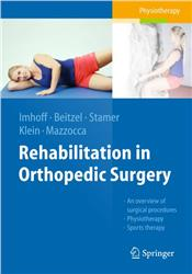 Cover Rehabilitation in Orthopedic Surgery