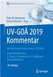 Cover UV-GOÄ 2019 Kommentar