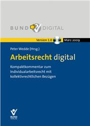 Cover Arbeitsrecht digital / CD-ROM
