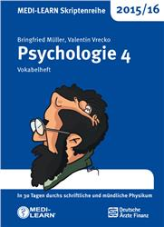 Cover MEDI-LEARN Skriptenreihe 2015/16: Psychologie 4