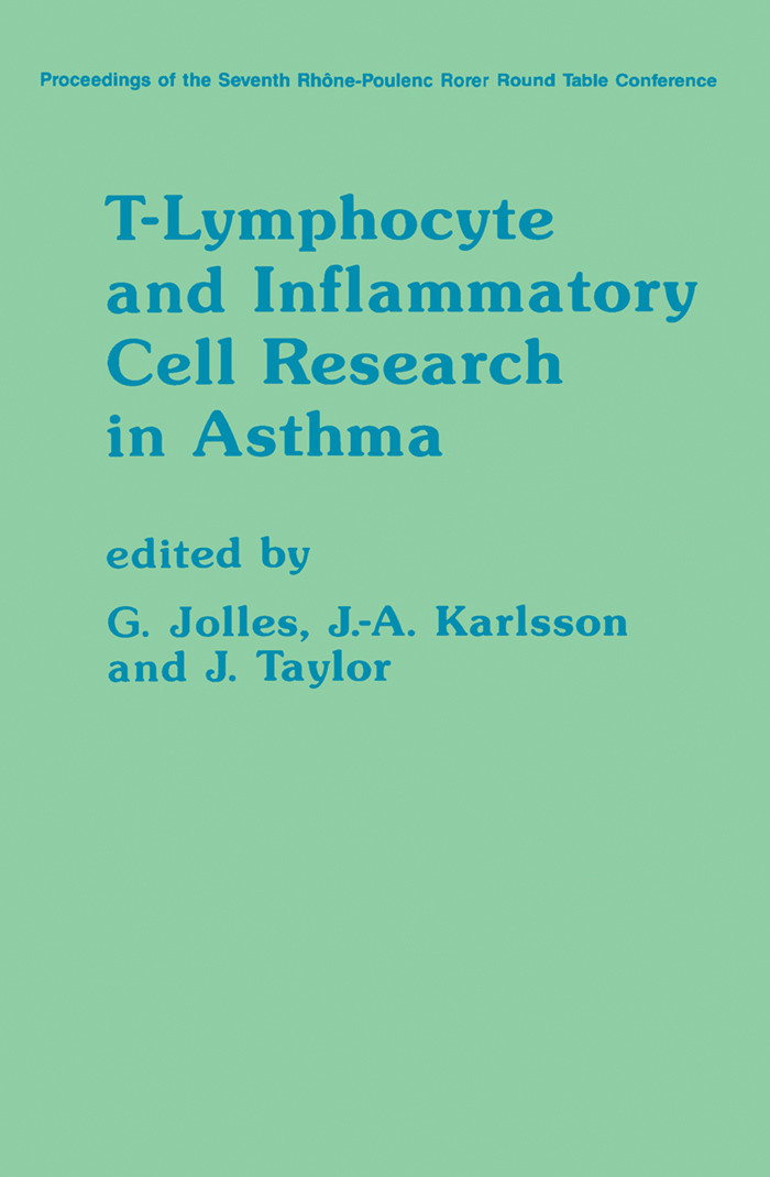 T-Lymphocyte and Inflammatory Cell Research in Asthma