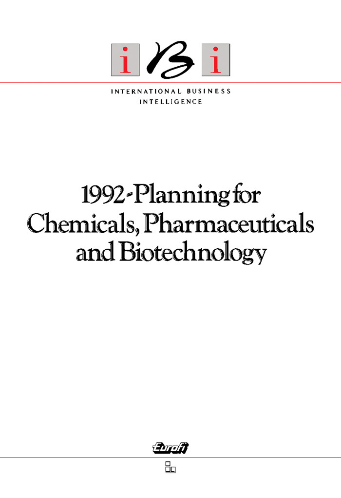 1992-Planning for Chemicals, Pharmaceuticals and Biotechnology