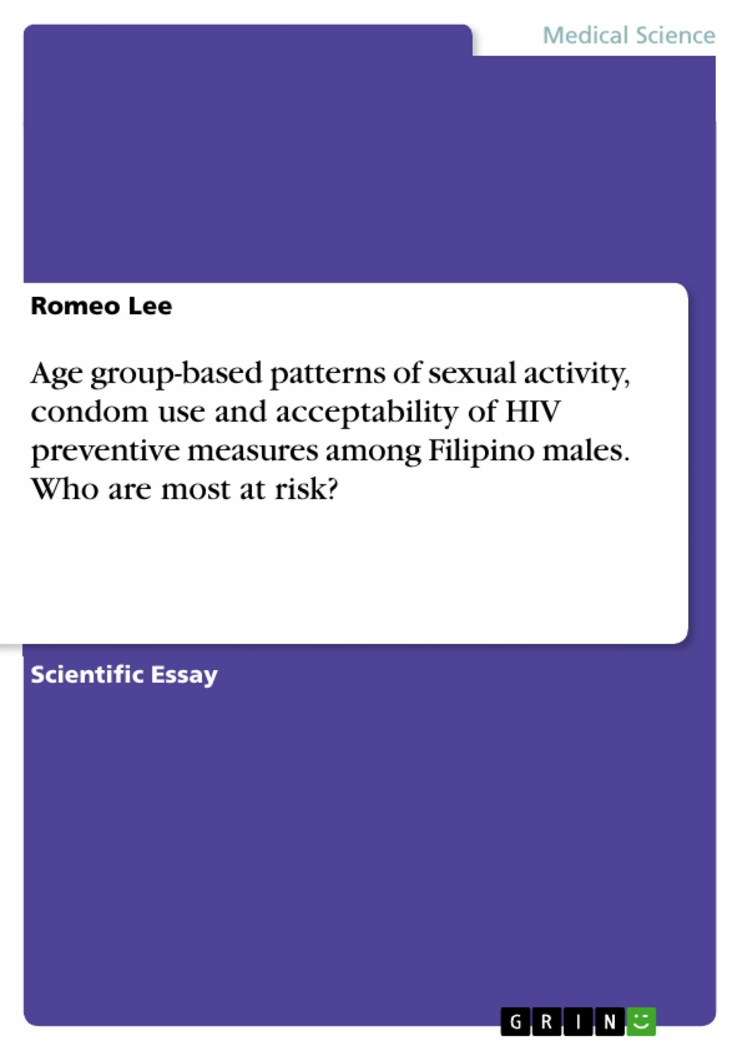 Age group-based patterns of sexual activity, condom use and acceptability of HIV preventive measures among Filipino males. Who are most at risk?