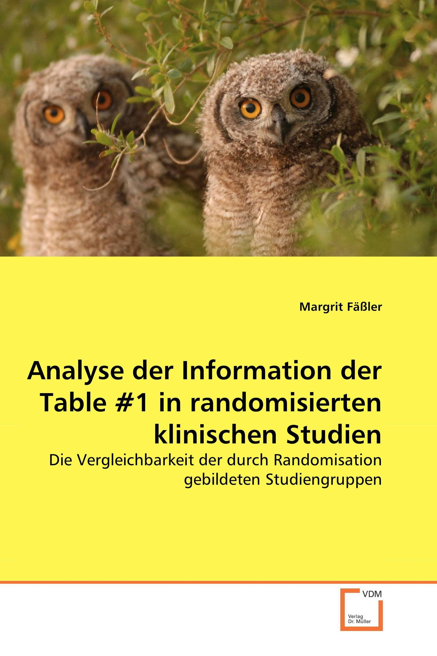 Analyse der Information der Table #1 in randomisierten klinischen Studien