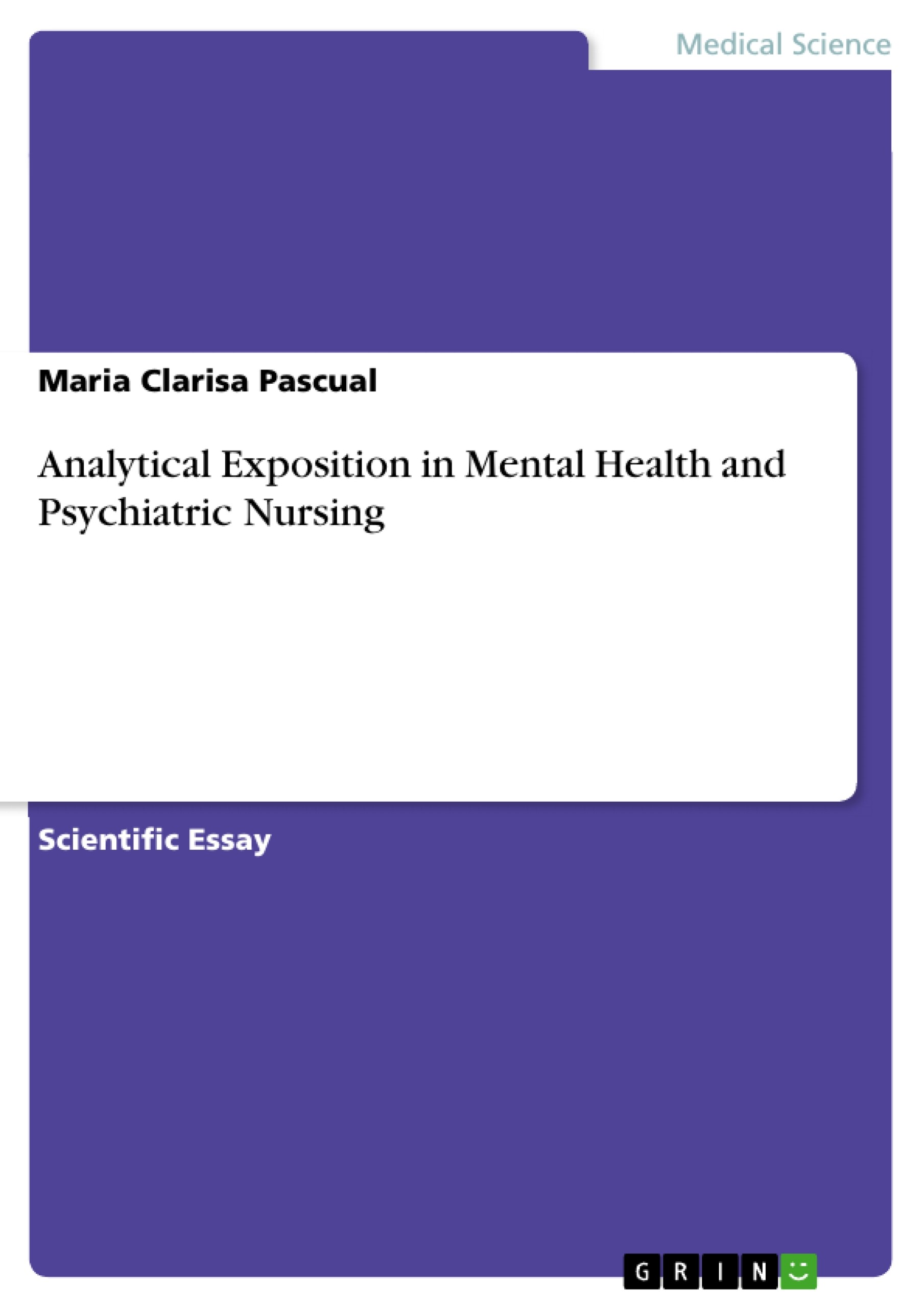 Analytical Exposition in Mental Health and Psychiatric Nursing