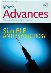 Cover BJPsych Advances