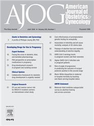 Cover American Journal of Obstetrics and Gynecology