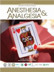 Cover Anesthesia and Analgesia