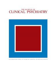 Cover Journal of Clinical Psychiatry
