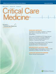 Cover Critical Care Medicine