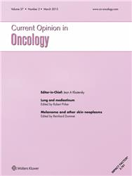 Cover Current Opinion in Oncology
