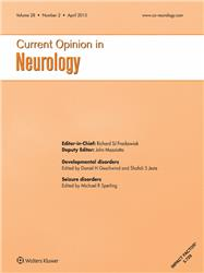 Cover Current Opinion in Neurology