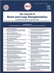 Cover Journal of Heart and Lung Transplantation