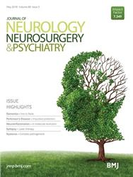 Cover Journal of Neurology, Neurosurgery & Psychiatry incl. Pract. Neurol.
