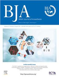 Cover BJA: British Journal of Anaesthesia