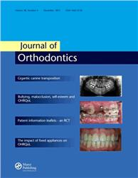 Cover Journal of Orthodontics