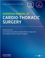 Cover European Journal of Cardio-Thoracic Surgery