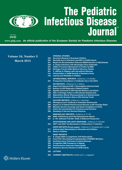 Pediatric Infectious Disease Journal