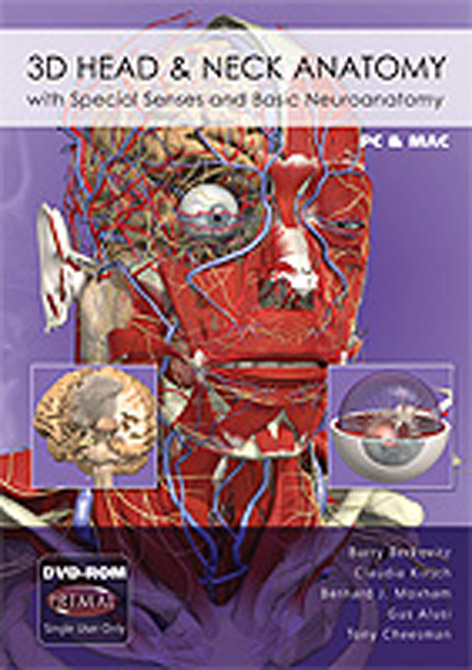3D Head and Neck Anatomy with Special Senses and Basic Neuroanatomy DVD-ROM