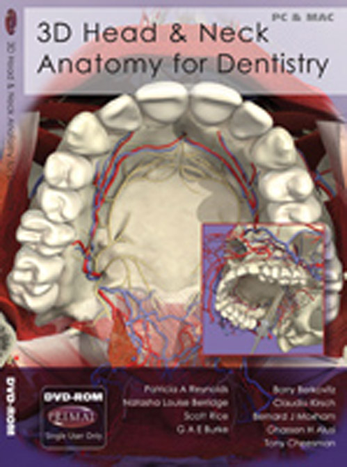 3D Head and Neck Anatomy for Dentistry DVD-ROM