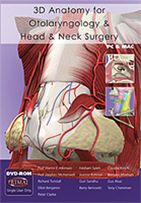 3D Anatomy for Otolaryngology and Head and Neck Surgery DVD-ROM
