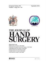 Cover Journal of Hand Surgery - Europ.Ed. (ab 2018 10 Hefte im Jahr!)
