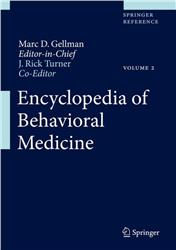 Cover Encyclopedia of Behavioral Medicine