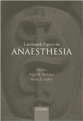 Cover Landmark Papers in Anaesthesia