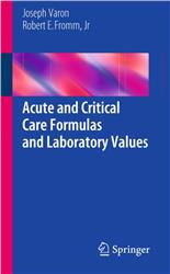 Cover Acute and Critical Care Formulas and Laboratory Values