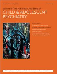 Cover Journal of the American Academy of Child & Adolescent Psychiatry