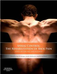 Cover Spinal Control: The Rehabilitation of Back Pain