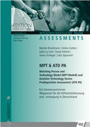 Cover MPT & ATD PA Matching Person and Technology Model (MPT-Modell) und Assistive Technology Device Predisposition Assessment (ATD PA)
