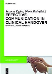 Cover Effective Communication in Clinical Handover