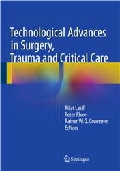 Cover Technological Advances in Surgery, Trauma and Critical Care