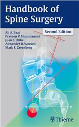 Cover Handbook of Spine Surgery