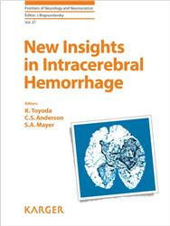 Cover New Insights in Intracerebral Hemorrhage