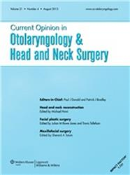 Cover Current Opinion in Otolaryngology and Head and Neck Surgery