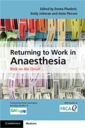 Cover Returning to Work in Anaesthesia