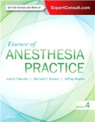 Cover Essence of Anesthesia Practice