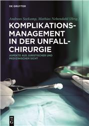 Cover Komplikationsmanagement in der Unfallchirurgie