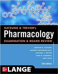 Cover Katzung & Trevors Pharmacology Examination and Board Review, Thirteenth Edition